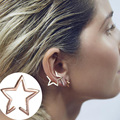 New Single Gold Trendy No Hole Hollow Out Star Ear Cuff Clip Earring For Women Fine Jewelry Wholesale 8334