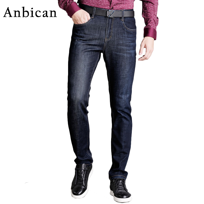 Anbican 2017 Fashion Famous Brand Mens Jeans Trousers Smart Casual Long Skinny Jeans Men Slim Fit Denim Cotton Pants nk505 new design skinny mens jeans men brand fashion male casual cotton slim straight elasticity pants loose waist long trousers denim