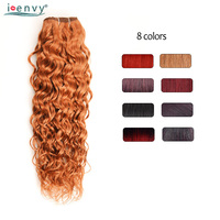Ienvy Colored Bundles 100% Human Hair Ombre Brazilian Water Wave Bundles Red 99J Burgundy Bundle Blonde Curly Hair Weave Nonremy