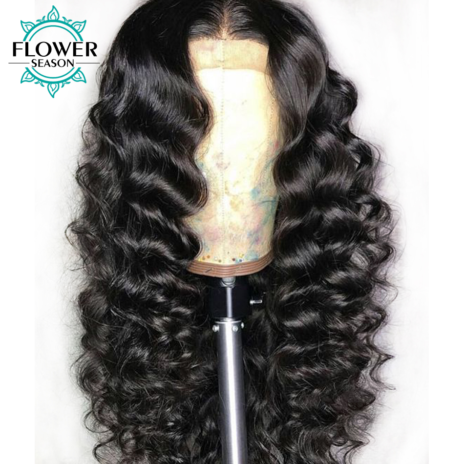 Bouncy Curly Lace Front Wigs Human Hair With Baby Hair 13x6 Lace Frontal Brazilian Remy Hair Wig Preplucked Bleached Knots 130%
