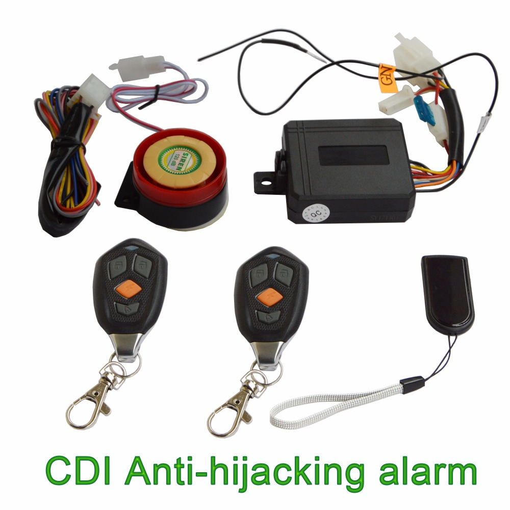 CDI Security Card Anti-hijacking Motorcycle Alarm Hidden Lock System With Engine Start & Cut Off Anti-robbery Motorbike Alarm