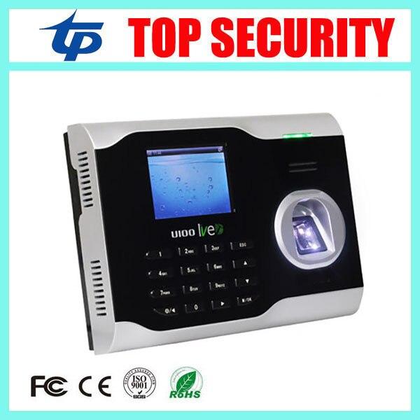 Free Shipping TCP/IP fingerprint time attendance time clock LIVE ID fingerprint sensor biometric time attendance recording U100 free shipping tcp ip fingerprint time attendance a c010t