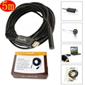 2.0MP 720P 5M Flexible Tube Coms 6 LEDs Mini USB 8mm Dia Waterproof Endoscope Borescope Snake Inspection Digital Video Camera