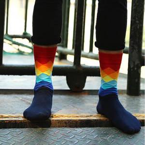 fe4c0becbfa LNRRABC 1 Pair One Size Elegant Plaid Color Men Sock