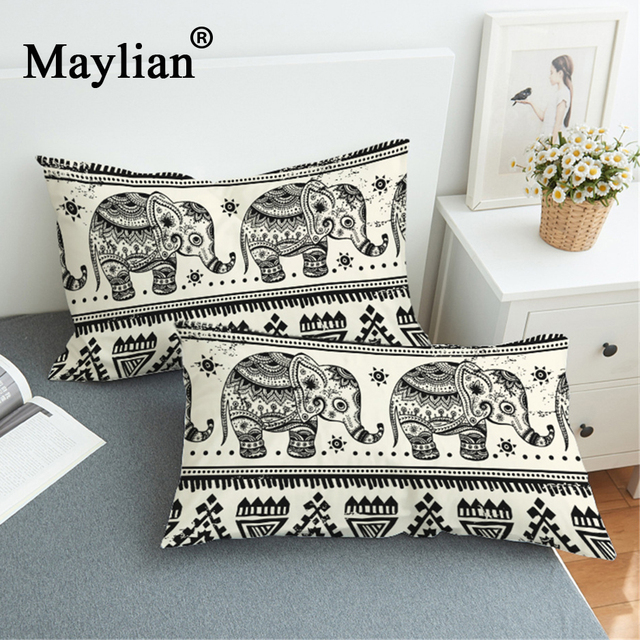 New 3d Elephant Pillowcase Indian Animal Printed Decorative Pillow