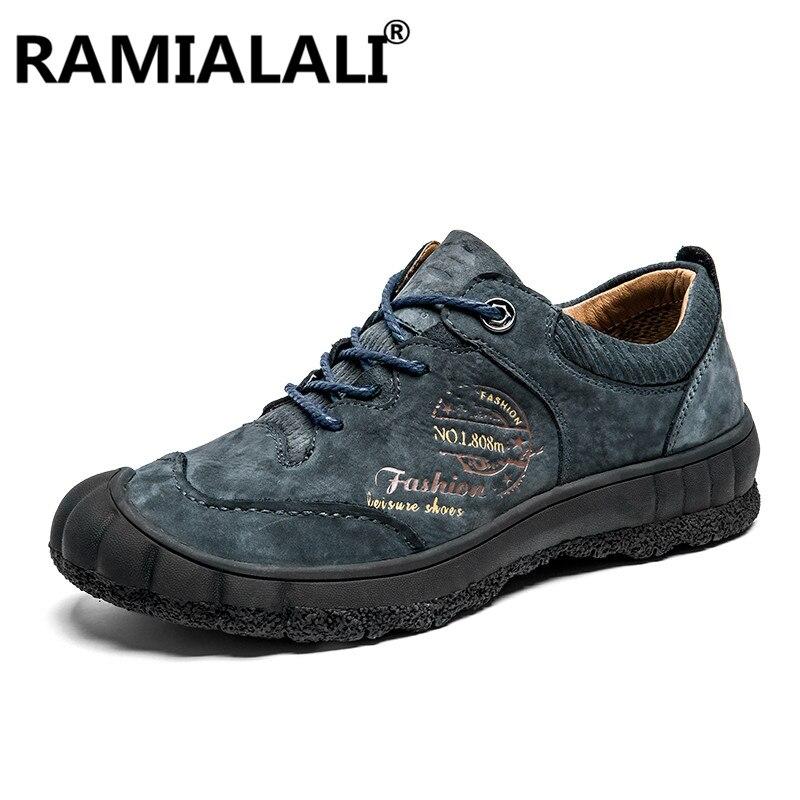 100% Echtem Leder Schuhe Männer Atmungsaktive Outdoor-männer Wohnungen Handgemachte Männer Casual Schuhe Mokassins Für Männer Zapatos Hombre