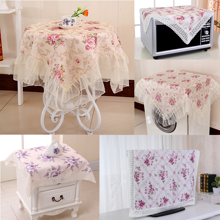New Arrival <font><b>Elegant</b></font> style <font><b>Home</b></font> hotel dining cotton Table Clothwashing machine tv machine cover <font><b>home</b></font> <font><b>decoration</b></font>