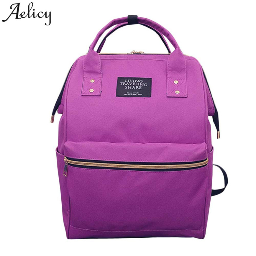 Aelicy 2018 Fashion Women Backpacks Female Denim School Bag Teenagers Hot New Fashion  Girls  Rucksack Large Space Backpack