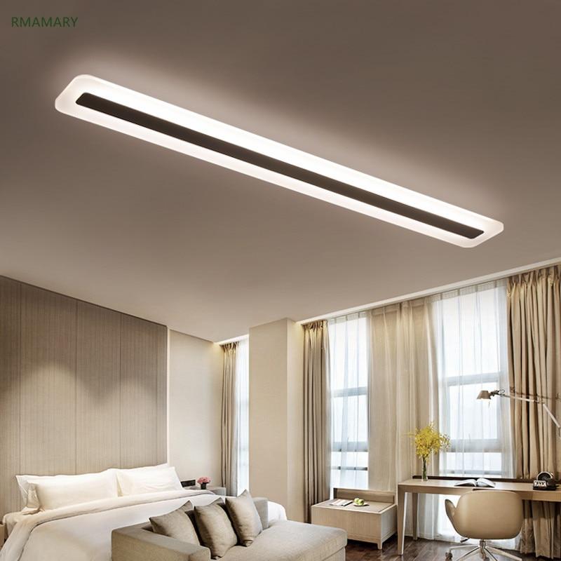 Us 60 9 13 Off Modern Minimalist Led Light Strip Ceiling Lamp Living Room Bedroom Office Dining Room Aisle Balcony Ceiling Light 110 220v In Ceiling