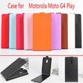 Para motorola moto g4 play case 5.0 polegada de moda de luxo magnético vertical flip couro protetora case capa para moto g4 jogar