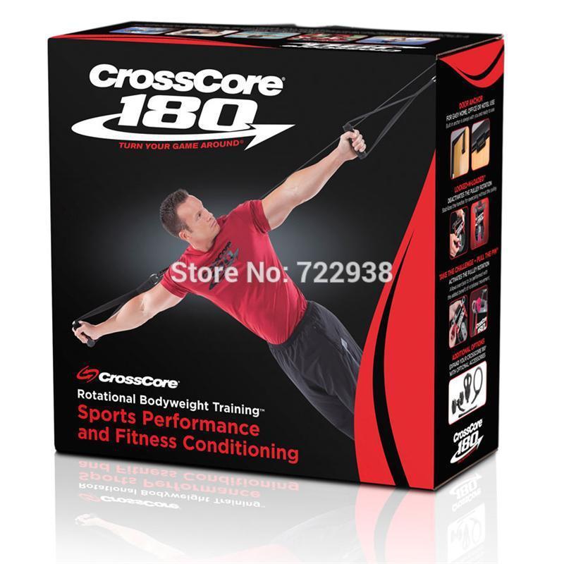 CrossCore 180 bandes de résistance fitness set équipement d'exercice crossfit femmes ceinture formation suspendu sangles