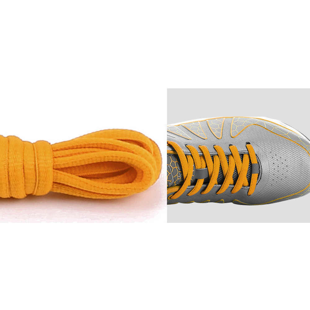 Ayakkabı bağı yarı daire çizmeler dantel rahat ayakkabılar sarı 2/set yarı daire tasarım solmaz kolay değil