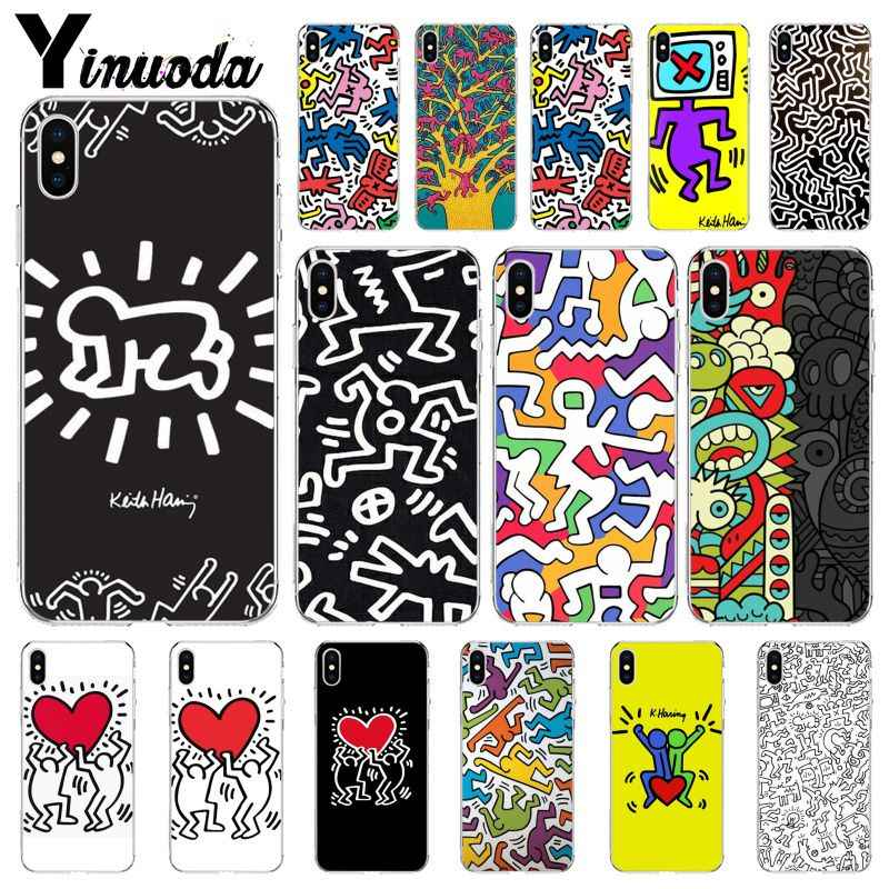 Yinuoda Keith Haring art Luxe Unieke DIY Printing Telefoon Case cover Shell voor Apple iPhone 8 7 6 6S plus X XS MAX 5 5S SE XR