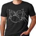 Drums T-shirt Artistic design Drummer Tee Print T shirts O neck Short Sleeves