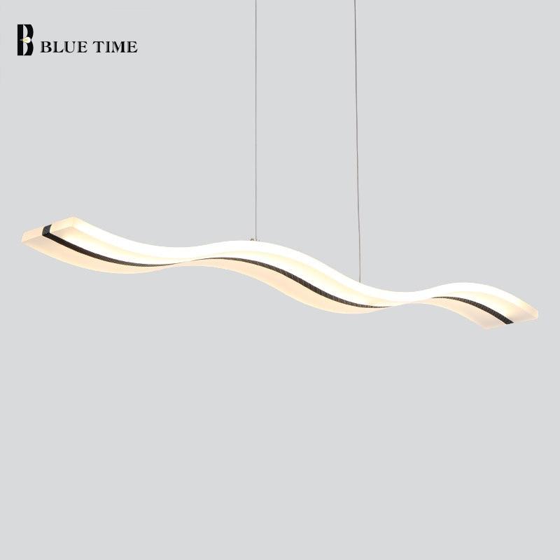 BLUE TIME Modern Acrylic Chandeliers for dinning room bedroom studyroom LED chandelier lights 38W 110V 220V lampadario