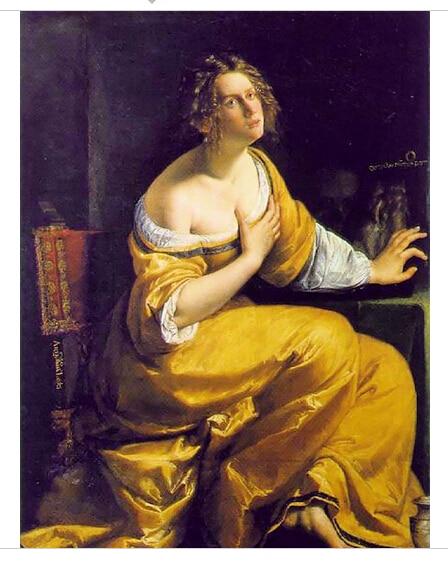 Beautiful Oil painting artemisia gentileschi Young woman