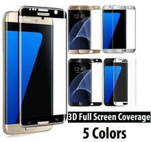 SM-G935F / SM-G930F 9H Hardness 3D Full Coverage Tempered Glass Screen Protector For Samsung Galaxy S7 Edge / S7 Glass Film