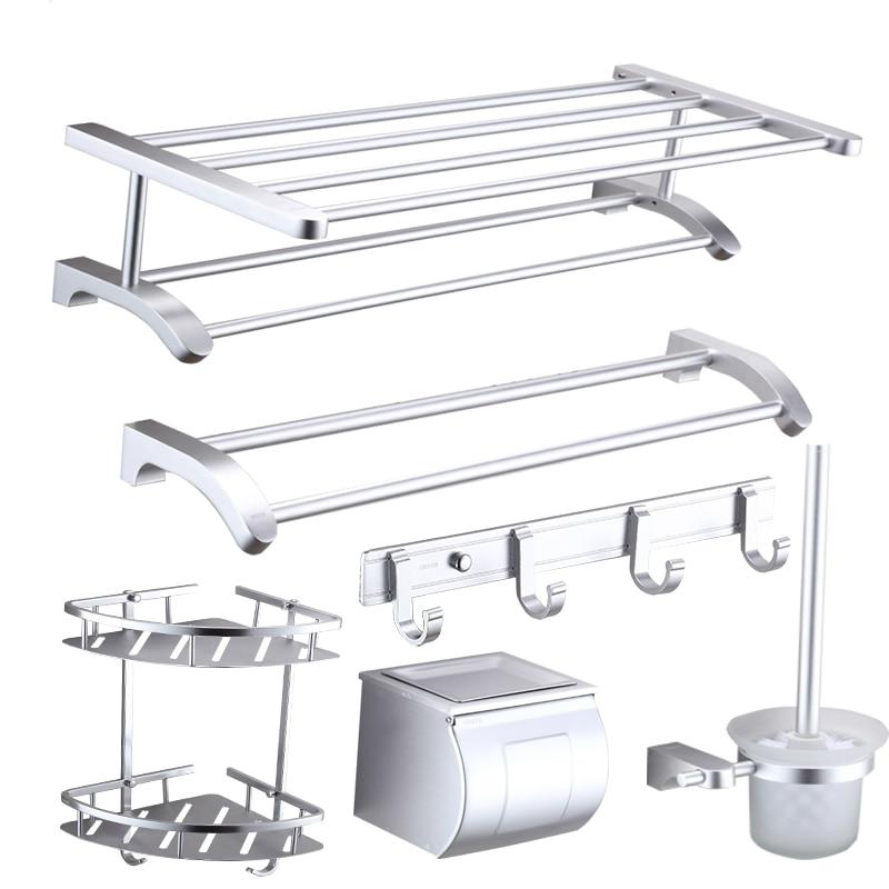 Новый Дизайн современные космические Алюминий серебро пескоструйная монтажа Товары для ванной R622
