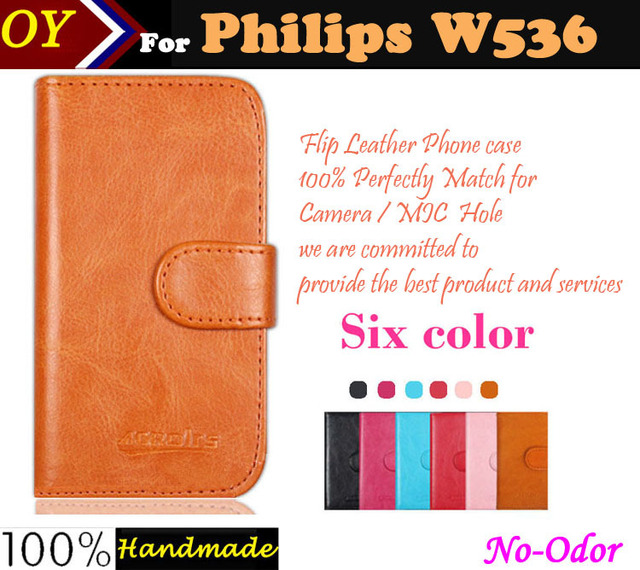 In Stock! Flip Leather Case For Philips W536 Phone Luxury Ultra-thin Dedicated Slip-resistant Protective Cover Card Bags Wallet