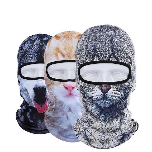 Хит продаж 2016 г. 3D Кепки для собак животных спорта на открытом воздухе Велосипедный Спорт Велоспорт мотоциклетные Маски для век лыж Гуд шляпа Фата Балаклава УФ полный Уход за кожей лица маска