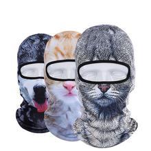 Hot Sale 2016 3D Cap Dog Animal Outdoor Sports Bicycle Cycling Motorcycle Masks Ski Hood Hat Veil Balaclava UV Full Face Mask