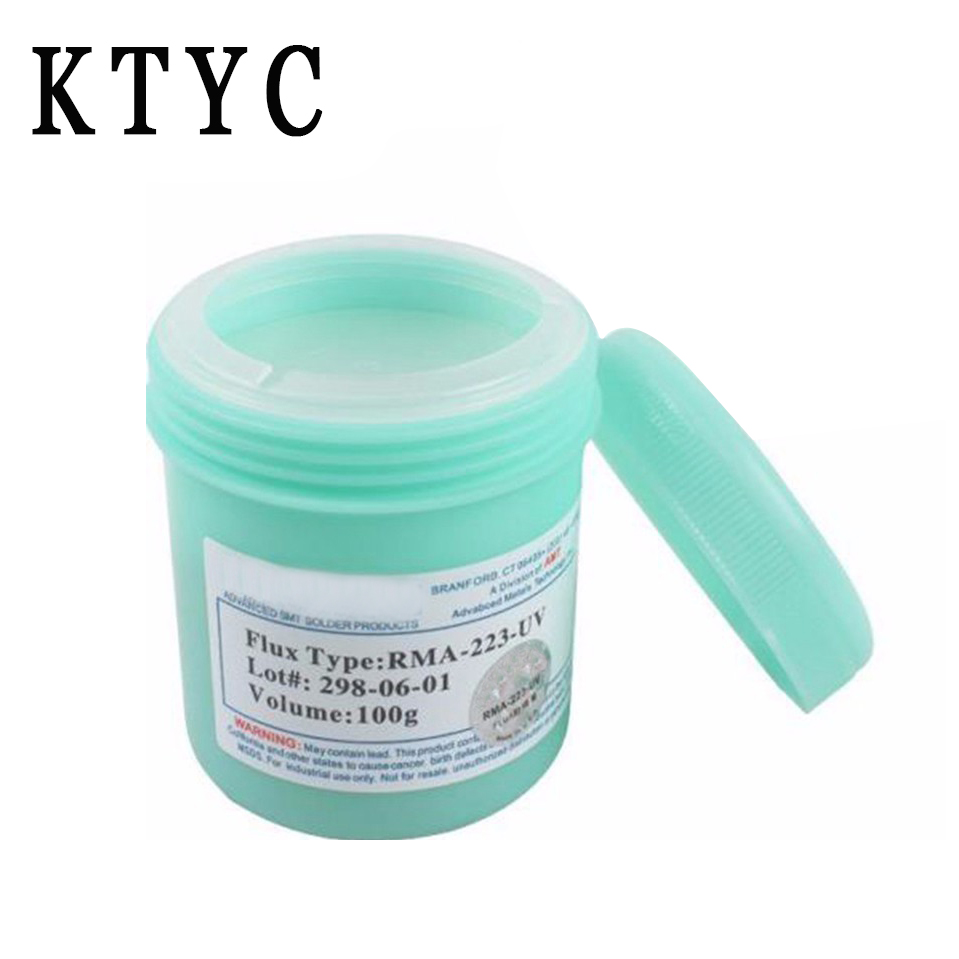 RMA-223-UV 100g SMT / SMD BGA Soldering Solder Flux Paste For PCB Rework Reballing Welding Repair high quality amtech nc 559 asm uv tpf no clean pcb smd bga soldering paste solder lead free flux bga reballing soldering