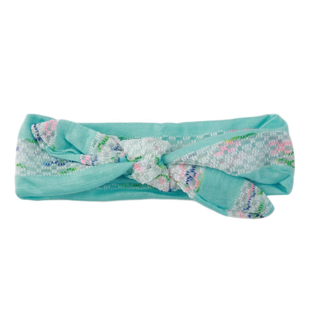 OUTAD 1Pcs Baby Girls Floral Flower Bow Headband Turban Knot Rabbit Headband Headwear Hair Band For Children 6 Color Clearance