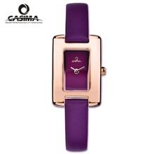 Relogio feminino mujeres relojes de cuarzo de cuero de Moda Casual Elegante de las señoras reloj de pulsera impermeable 50 m reloj de CASIMA #2612