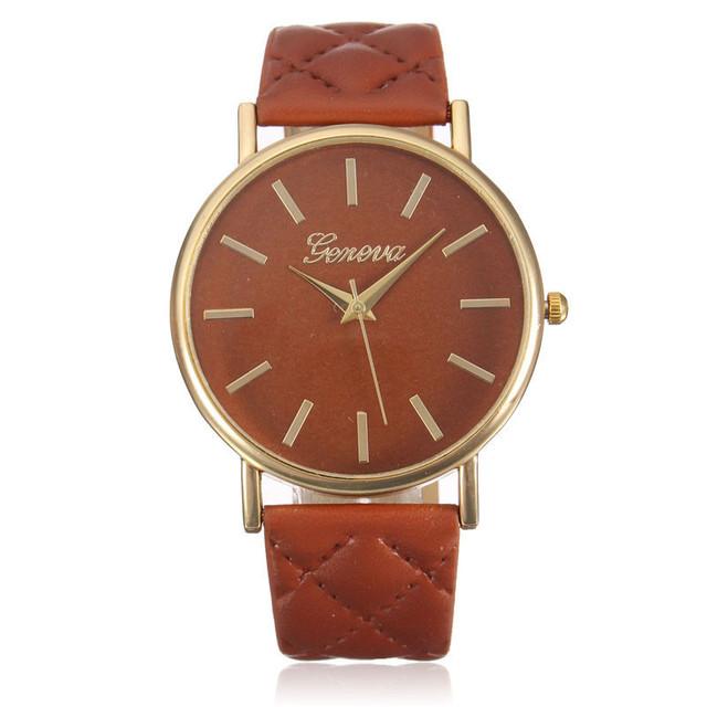 Women watches Simple Color White women's watches Faux Leather relogio feminino Analog Quartz bayan saat horloges vrouwen 30Q