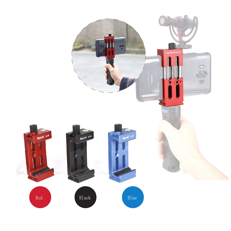 Universal 4.7-6 Inch Smartphone Clamp Mount Bracket Holder with 1/4 Screw Hole Gimble For Multi Hot Shoe for Phone Accs universal cell phone holder mount bracket adapter clip for camera tripod telescope adapter model c