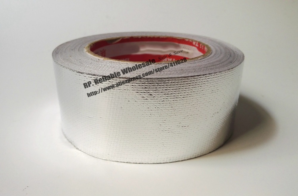 100mm 30M Mix Fiber Glass Aluminum Foil Adhesive Tape Strong For House Roof Heat Insulation Pipe