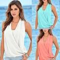 Fashion Women Summer Vest Top Sleeveless Blouse Casual Tank Tops Chiffon Shirt Blouse