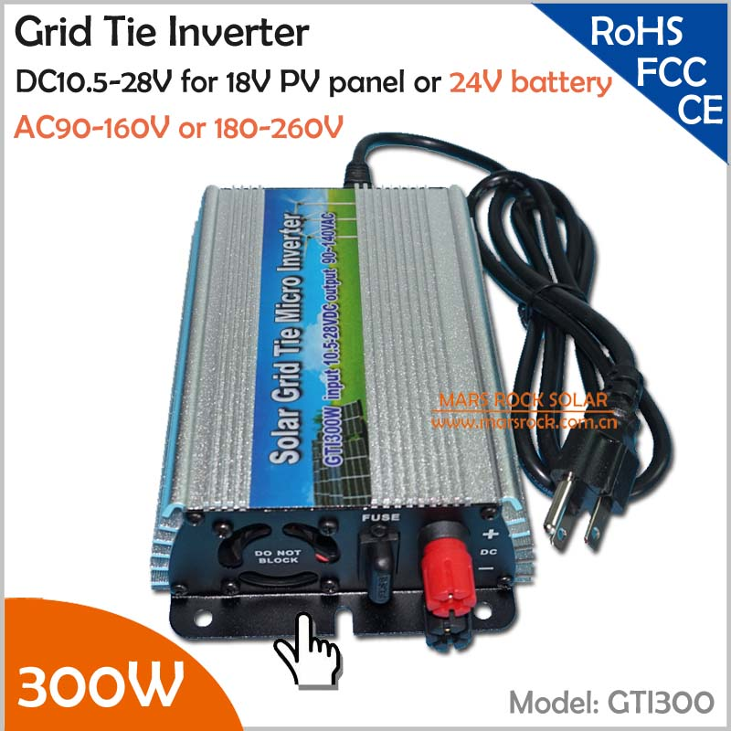 For 18V solar panel and 24V battery 300W pure sine wave grid tie solar inverter набор bosch дрель аккумуляторная gsb 18 v ec 0 601 9e9 100 адаптер gaa 18v 24