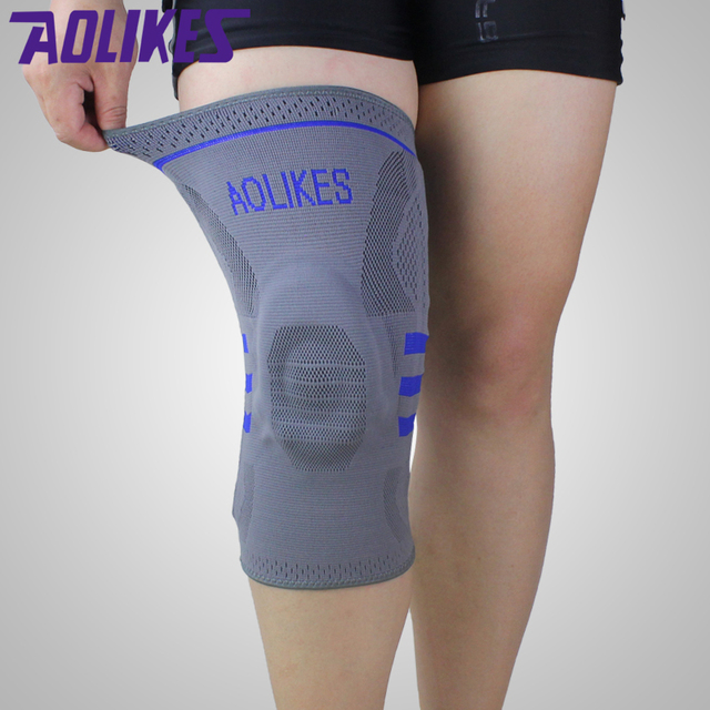 1pcs Basketball Knee Brace Compression knee Support Sleeve protection of Injury Recovery Volleyball Fitness sport safety