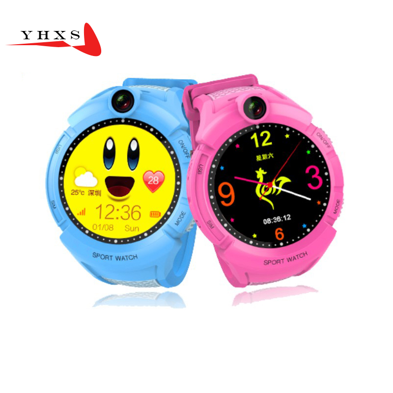 1 22 Touch Round Screen Smart Location Finder Device GPS Tracker Watch for Baby Kids Anti