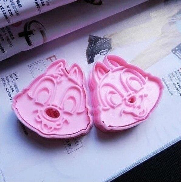 Vendita calda! 2 pz/set, rosa carino Chip & Dale cookie cutter Torta Del Fondent