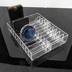 Transparent Acrylic Powder Cake Display Stand Case Jewelry Box Makeup Organizer Cosmetic 20 Slots Storage Holder