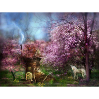 Diamond Embroidery Horse Fairyland 3d Diamond Painting Needlework Cross Stitch Pattern Square Rhinestone Handmade Crafts A6089R