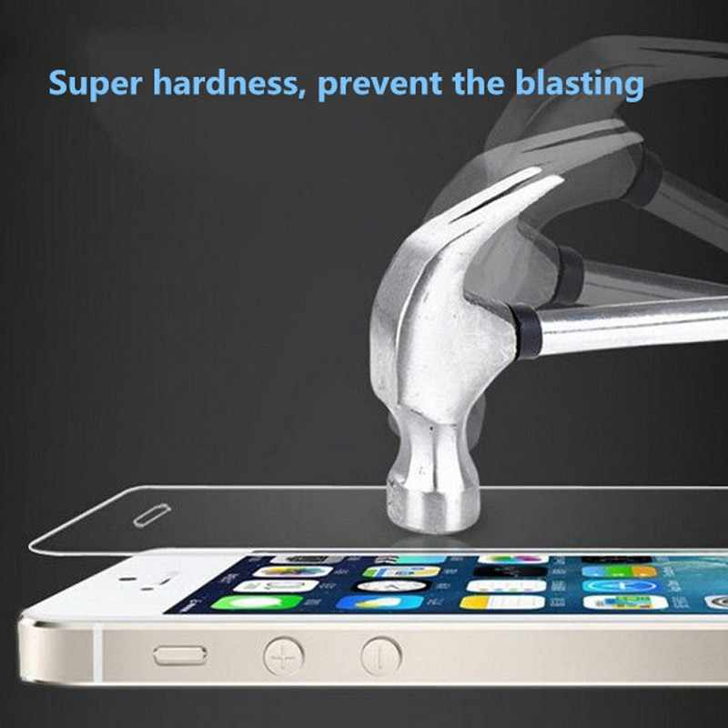 Ascromy dla iPhone X 7 6 6S Plus 8 5S SE 5C XS XR przednia okładka etui ochronne szkło hartowane na ekran 9H Film wzmocniona ochrona