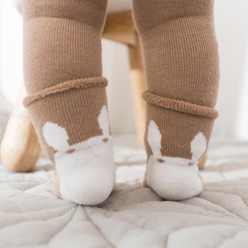 2019 Ppxx Cartoon Winter Neue Geboren Baby Socken 2 Teile/satz Mädchen Jungen Baumwolle Weiche Socken Infant Schuhe Warm Attraktives Aussehen