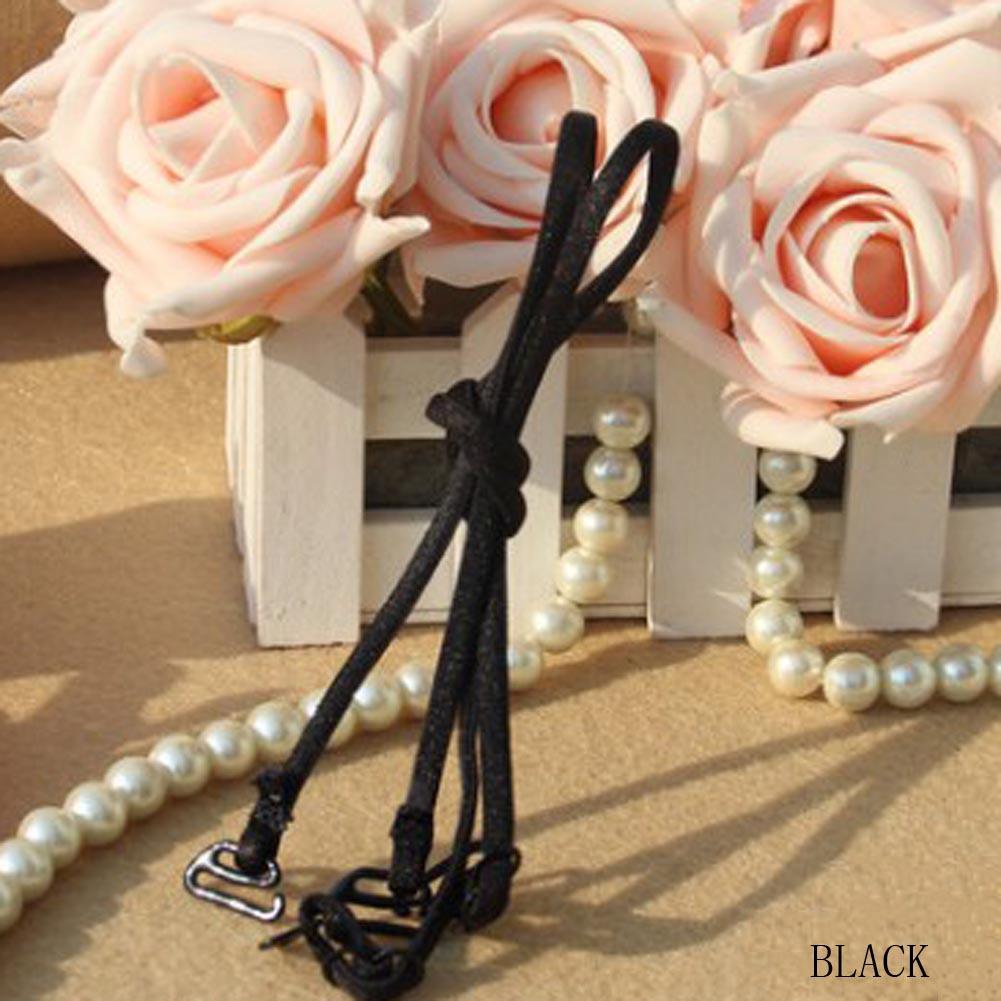 1 Pair Invisible shoulder straps candy color halter strap girl underwear bras Elastic Adjustable Shoulder Straps Anti-skid New