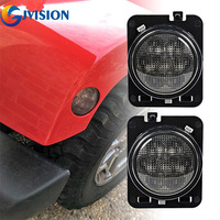 1 Pair Amber Front Fender Flare Parking Lamp LED Turn Signal Light Side Marker Lamp Indicator