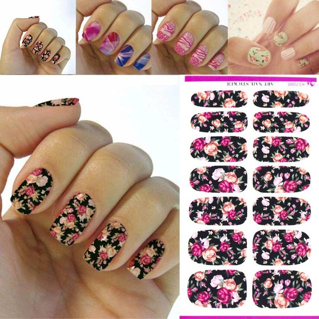 Tomtosh New Hot Water Nail Art Stick Pink Red Rose Design Nail