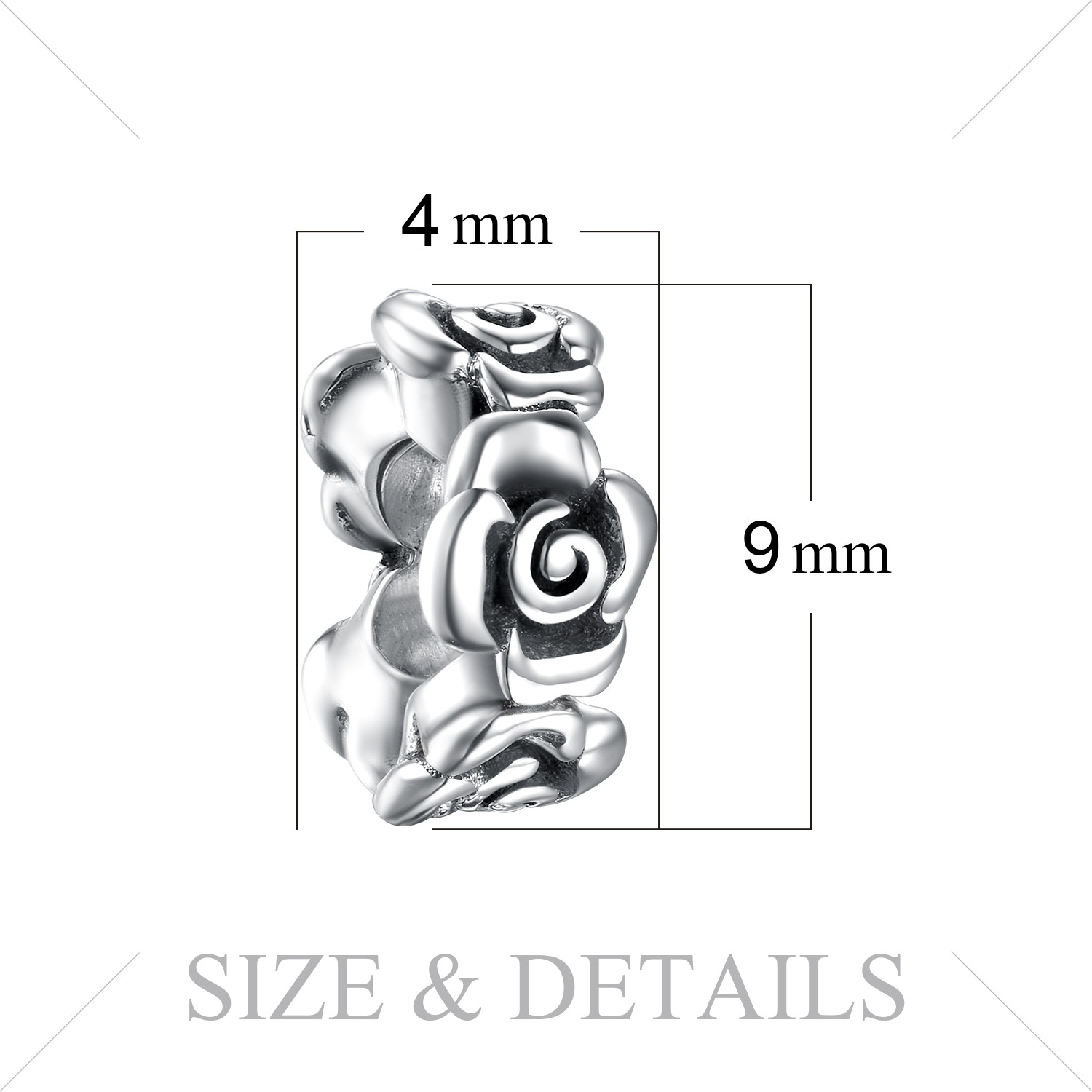 JewelryPalace Flower 925 Sterling Silver Beads Charms Silver 925 Original Fit Bracelet Silver 925 original Beads Jewelry Making in Charms from Jewelry Accessories