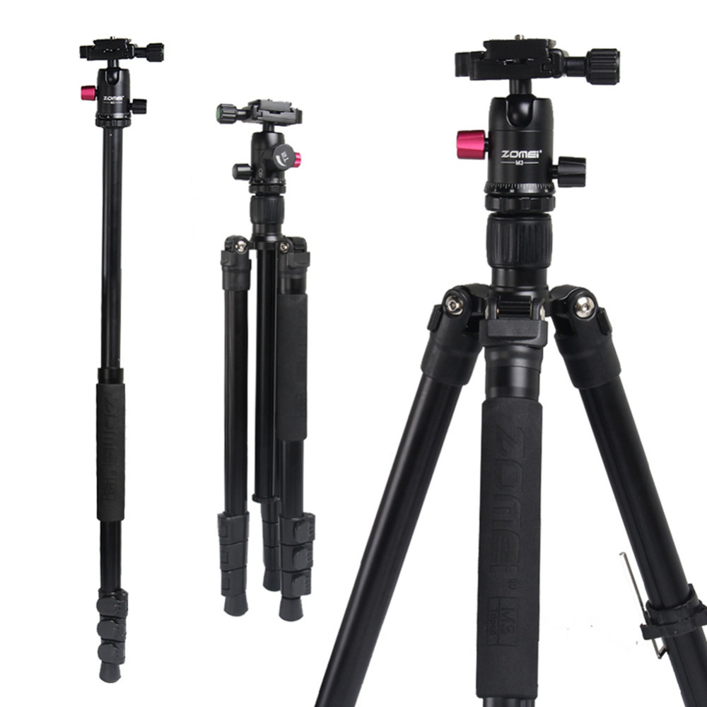 Pro Camera Tripod Zomei M3 Lightweight Aluminium Alloy Stand Tripod Monopod With Ball Head Quick Release Plate For SLR Camera