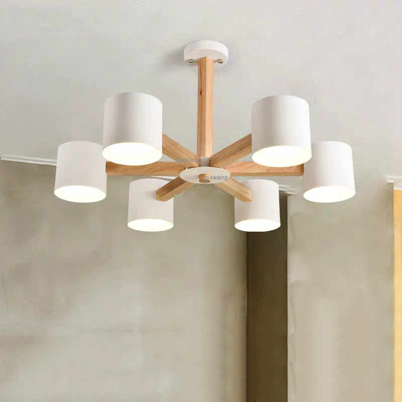Europe Lamp Wood LED Light Ceiling Chandelier Chandeliers Lamp Living room Chandelier Lighting Modern Hanging ceiling Lamps