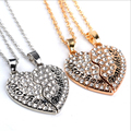 "New Full Rhinestone""Mother and daughter""Two Splicing Broken Heart Pendant Necklace 2 pcs/set Mother's Day Gifts Jewelry Necklace"