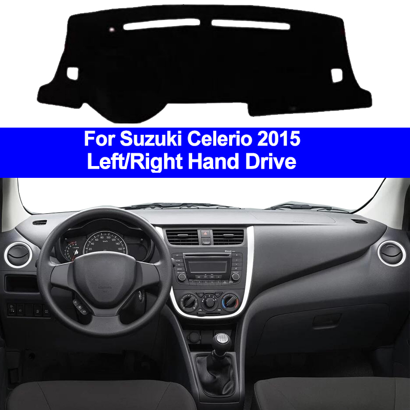 Car Inner Auto Dashboard Cover Dashmat Pad Carpet Dash Mat Cushion 2 Layers For Suzuki Celerio 2015 LHD RHD Car Styling