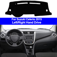 Interior do carro auto painel capa dashmat almofada tapete traço almofada 2 camadas para suzuki celerio 2015 lhd rhd estilo do carro