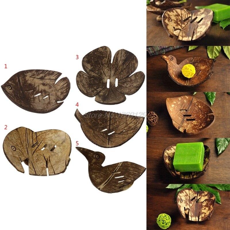 1 Pc Kreative Handgemachte Natürliche Holz Bad Seife Dish Box Container Küche Badewanne Schwamm Lagerung Tasse Rack Seife Halter Aug27